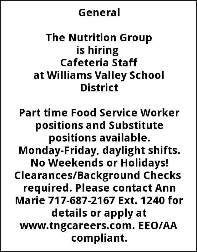 Cafeteria Staff