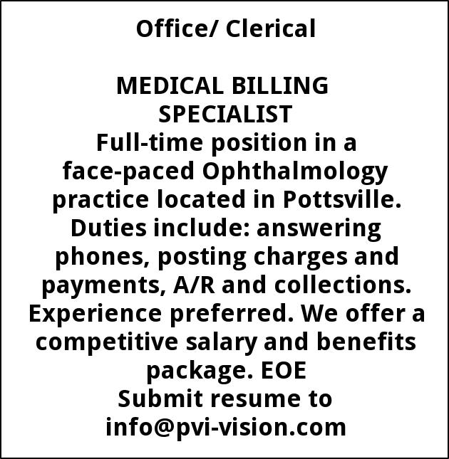 Medical Billing Specialist