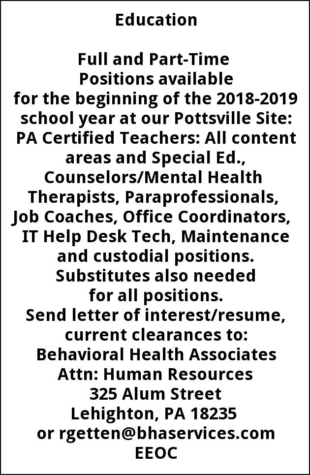 PA Certified Teachers, Councelors/Mental Health Therapists ...