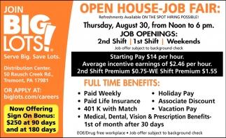 Production Job Fair August 30th