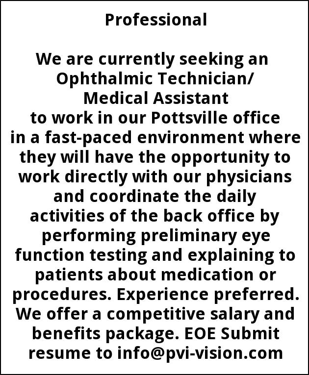 OphthalmicTechnician/ Medical Assistant