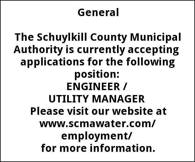 ENGINEER / UTILITY MANAGER