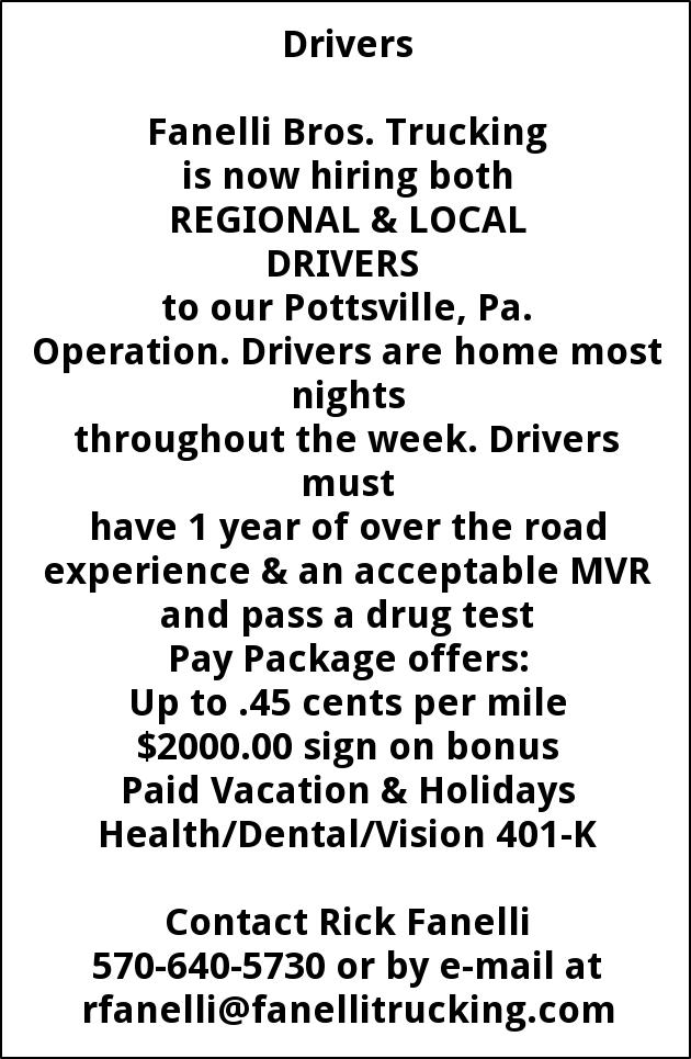 Regional & Local Drivers
