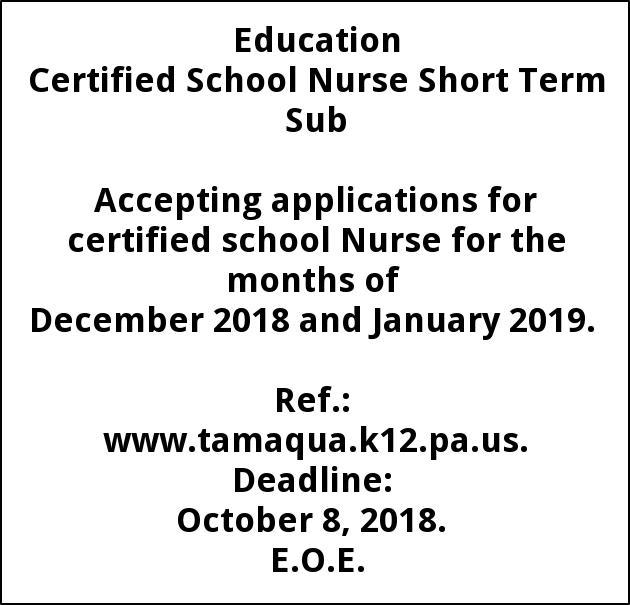 Certified School Nurse