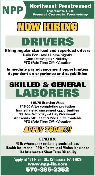 Laborers, Drivers