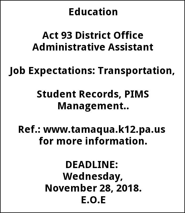 District Office Administrative Assistant