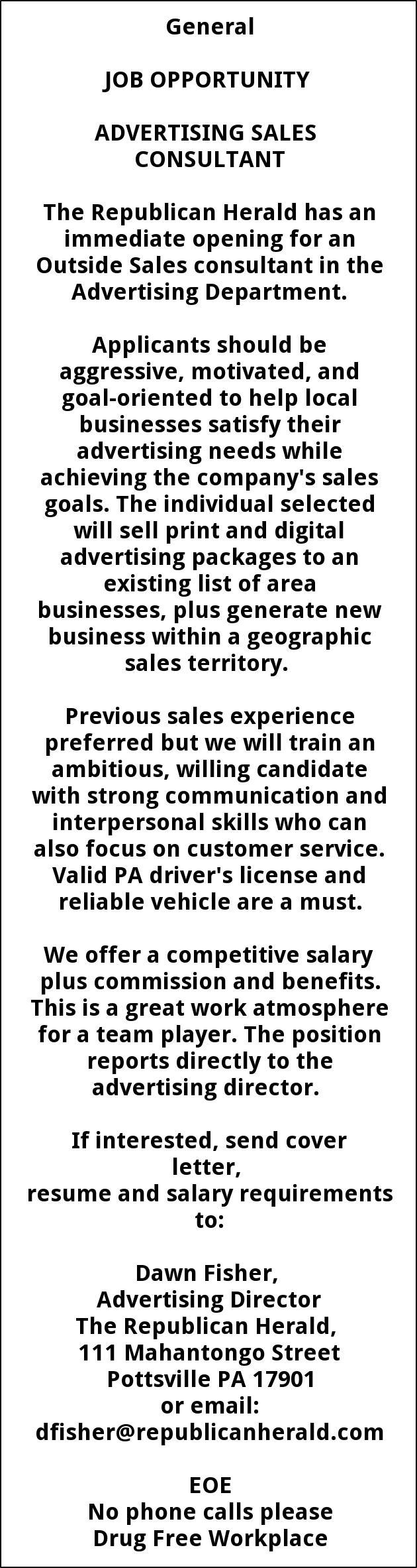 Advertising Sales Consultant
