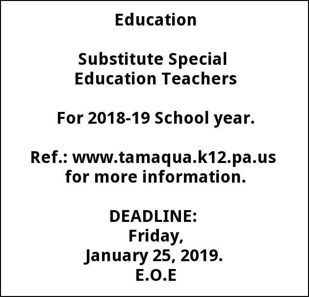 Substitute Special Education Teachers