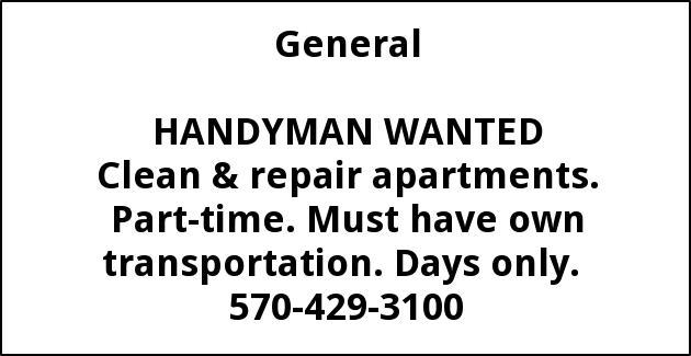 Handyman Wanted