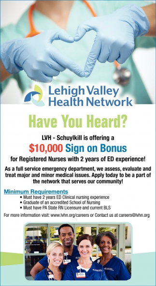 Registered Nurses 10,000 sign on bonus