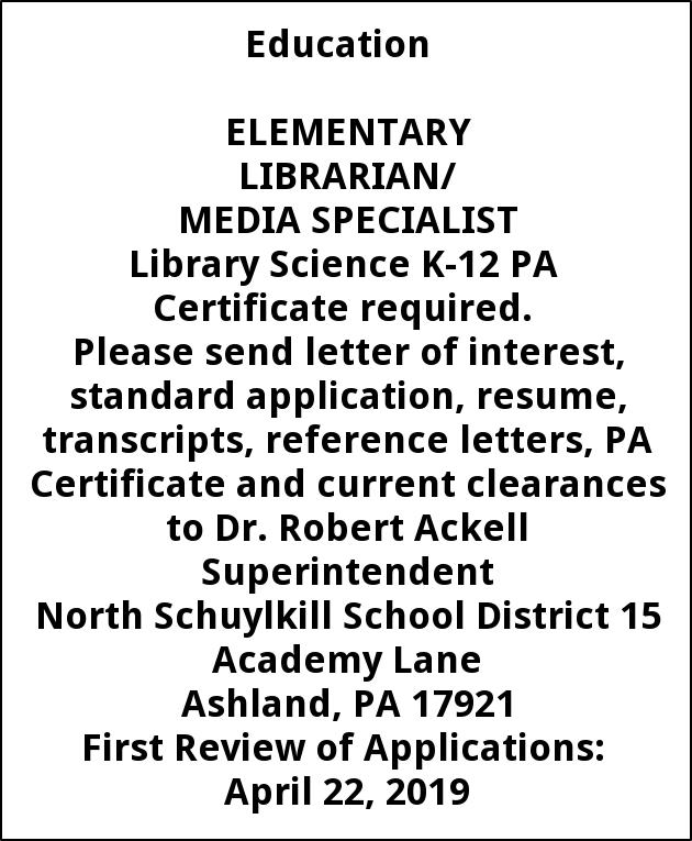 ELEMENTARY LIBRARIAN MEDIA SPECIALIST