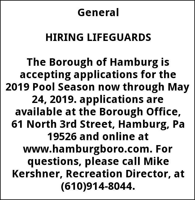 Hiring Lifeguards