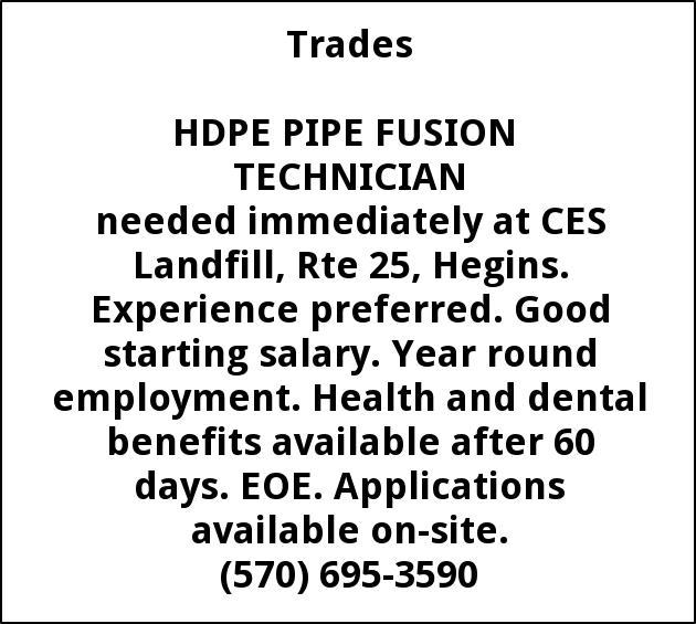 HDPE Pipe Fusion Technician