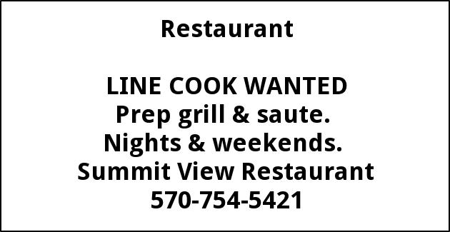 Line Cook Wanted