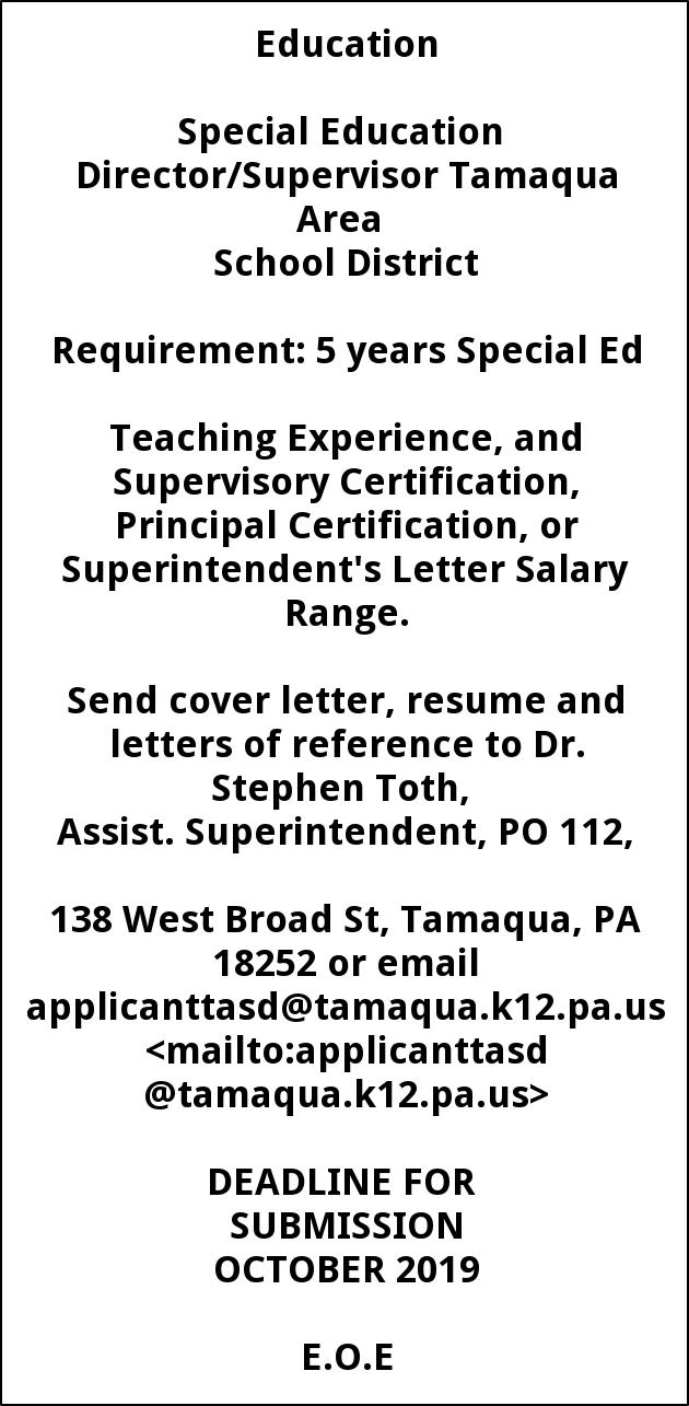 Special Education Director Supervisor