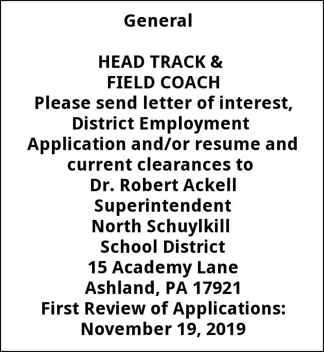 Head Track and Field Coach