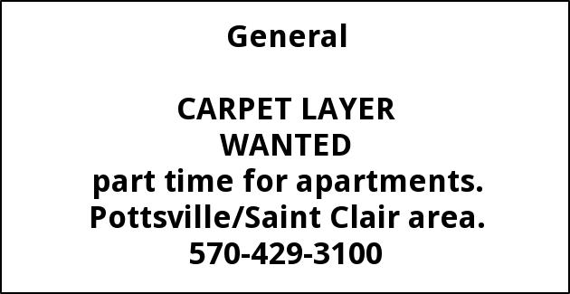 Carpet Layer Wanted