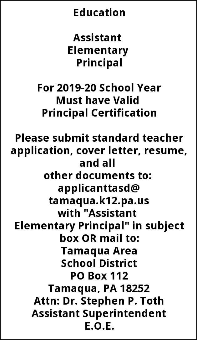Assistant Elementray Principal