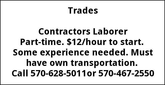 Contractors Laborer Needed