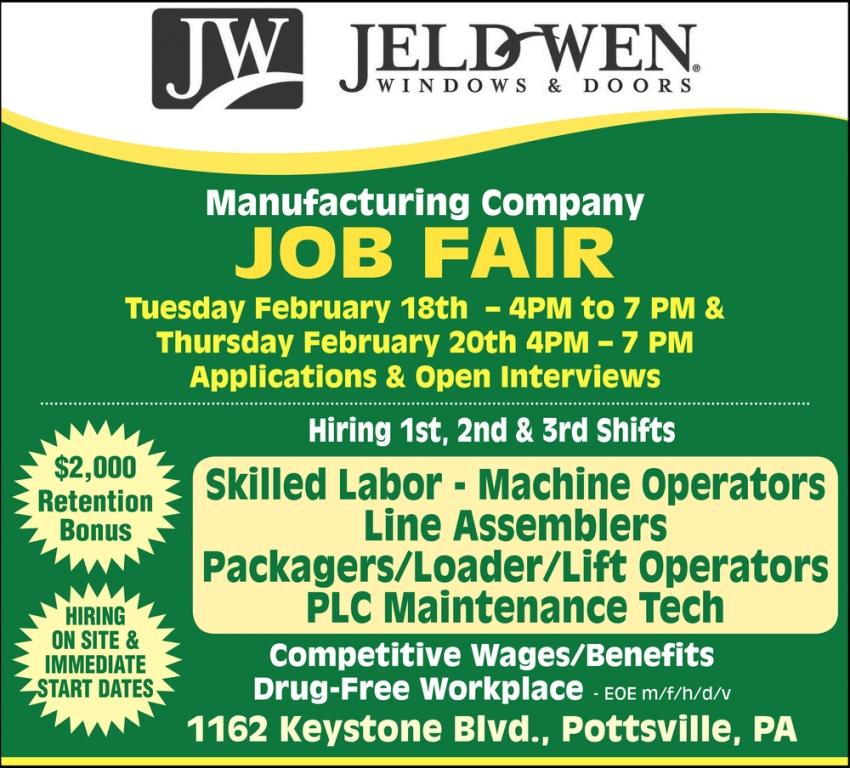 Manufacturing Company Job Fair