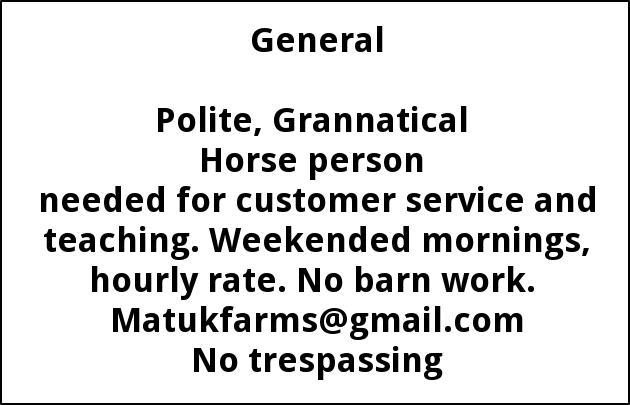 Horse Person