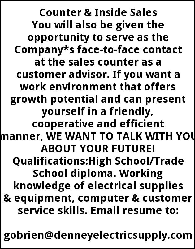 Counter & Inside Sales