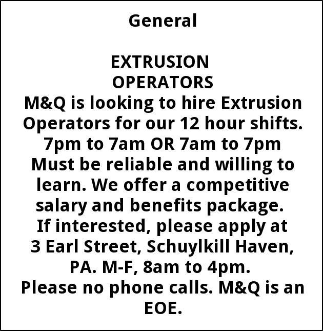 Extrusion Operators