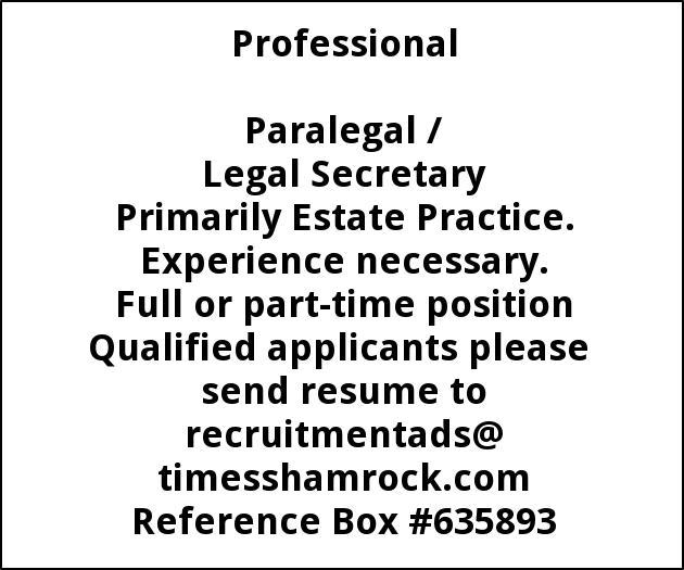 Paralegal / Legal Secretary