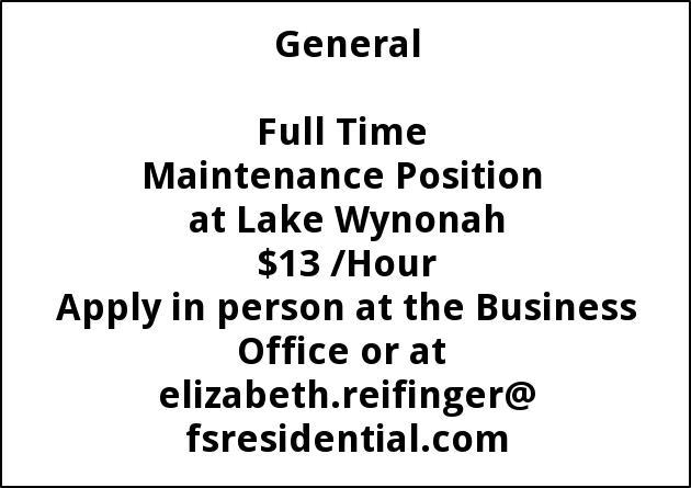 Maintenance Position