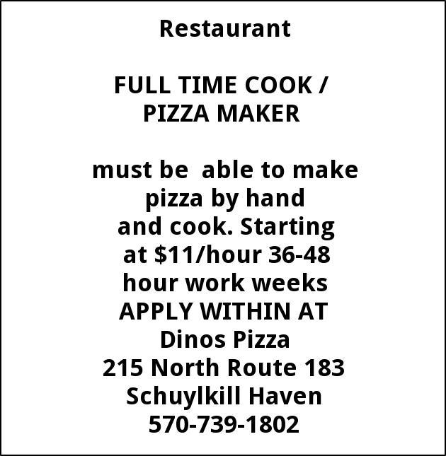 Cook / Pizza Maker
