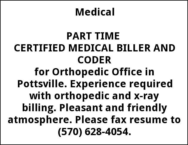 CERTIFIED MEDICAL BILLER AND CODER