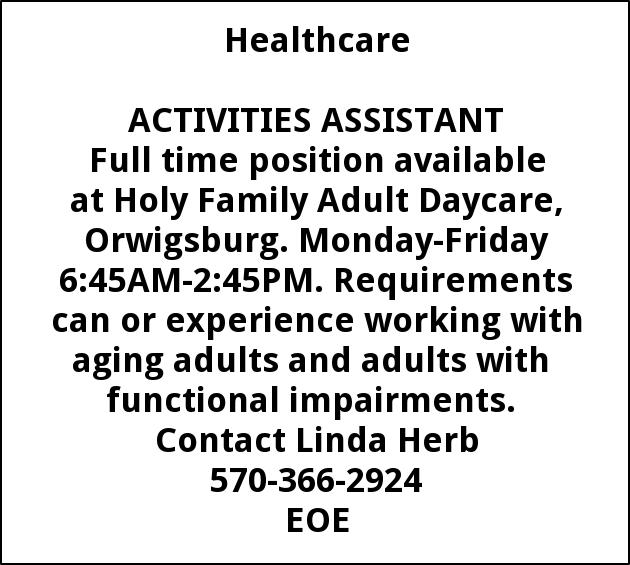 Activity / Nurses Aide