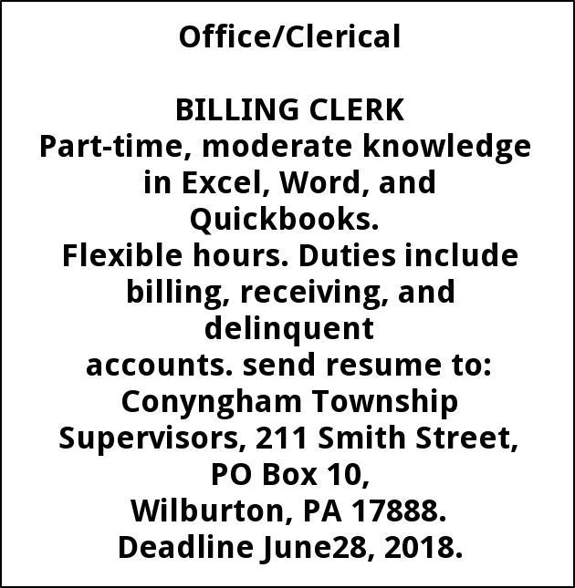 Billing Clerk