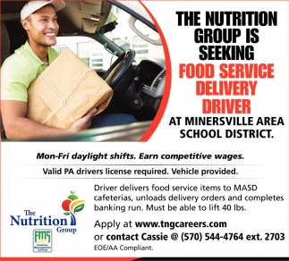 Food Service Delivery Driver