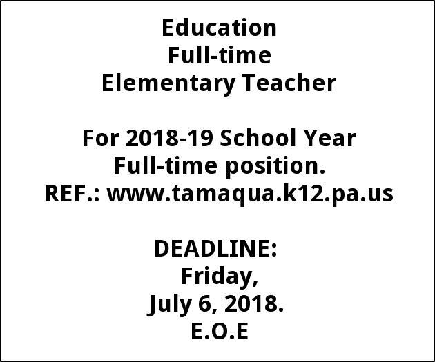Full-time Elementary Teacher