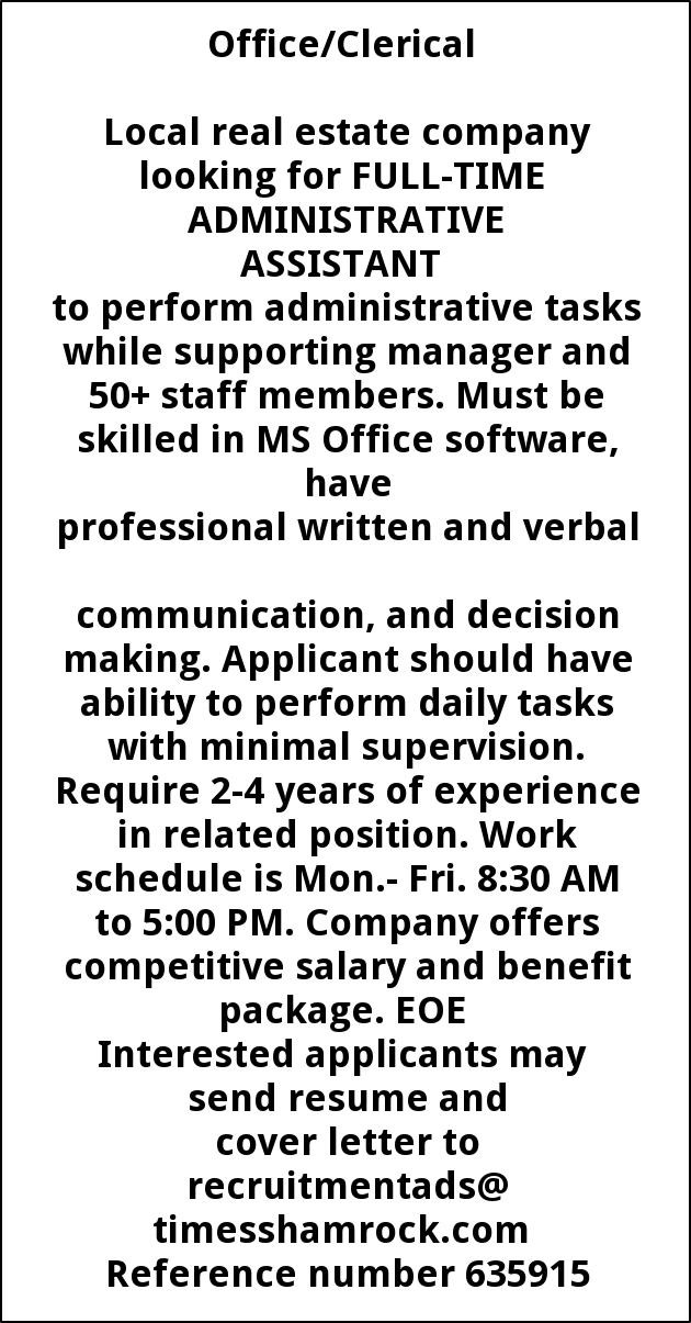 Administrative Coordinator