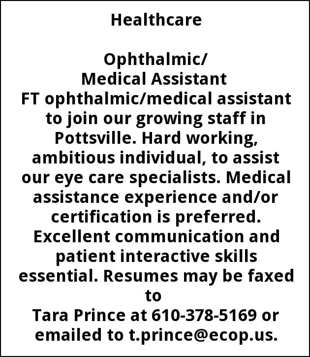 Opthalmic/ Medical Asistant