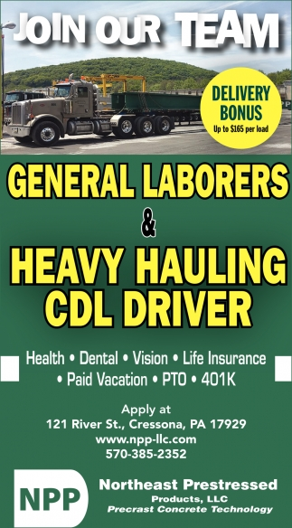 Heavy Hauling CDL Drivers  General Laborers