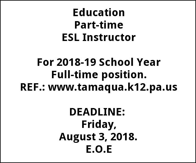 Part-time ESL Instructor
