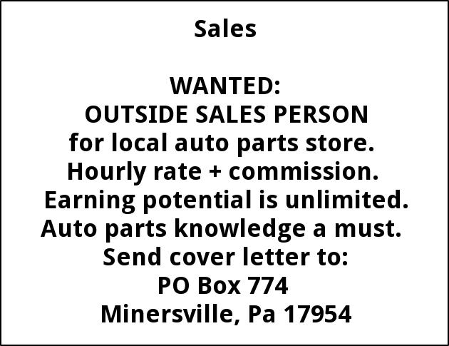 Outside Sales Rep