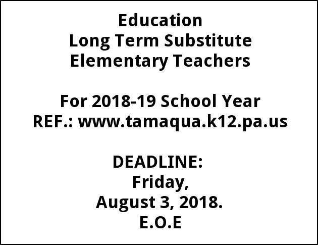 Long Term Substitute Elementary Teacher
